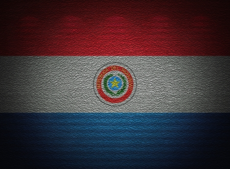 Paraguayan flag wall, abstract grunge background photo
