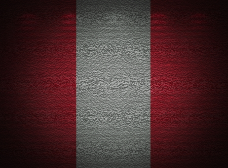 Peruvian flag wall, abstract grunge background photo