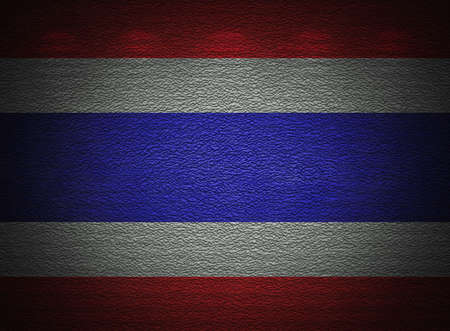 Thai flag wall, abstract grunge background photo
