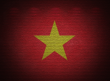 Vietnamese flag wall, abstract grunge background photo