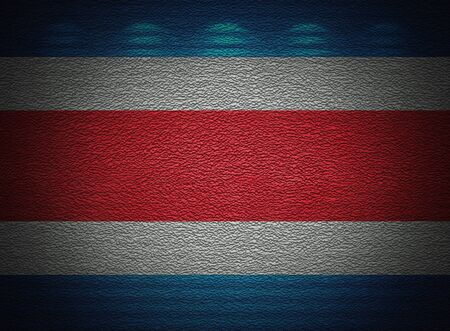 Costa Rica flag wall, abstract grunge background Stock Photo - 14302798
