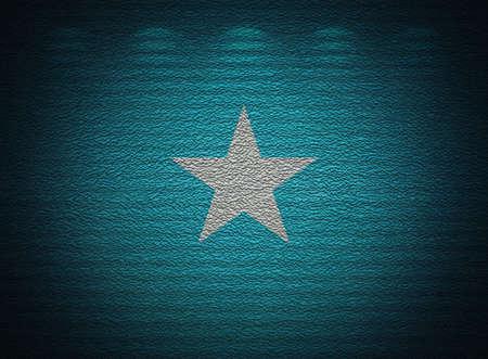 Somalian flag wall, abstract grunge background photo
