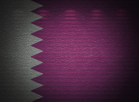 Qatari flag wall, abstract grunge background photo