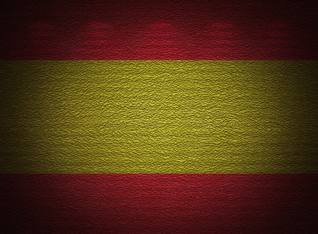 Spanish flag wall, abstract grunge background photo