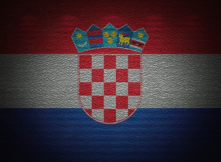 Croatian flag wall, abstract grunge background photo