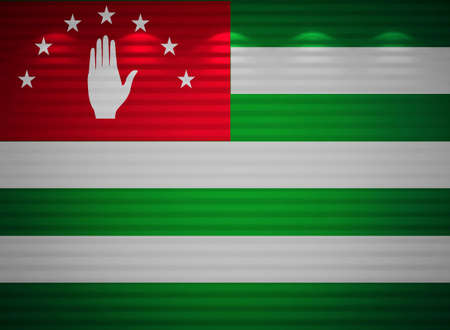 Abkhazia flag wall, abstract background photo