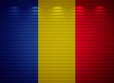 Romanian flag wall, abstract background photo