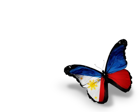 philippine: Philippine flag butterfly, isolated on white background