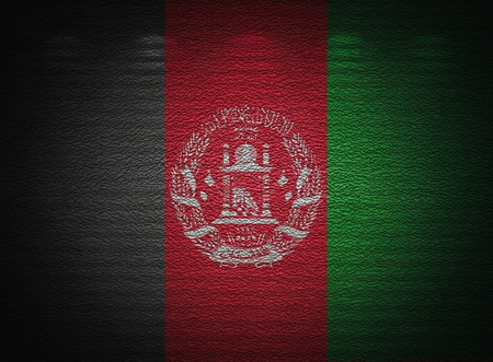 Afghani flag wall, abstract grunge background photo