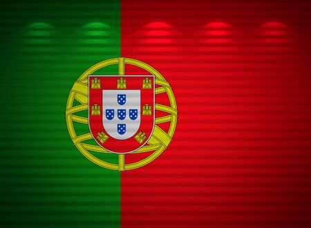 Portuguese flag wall, abstract background photo