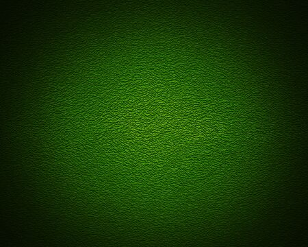Illuminated texture of the green wall, background photo