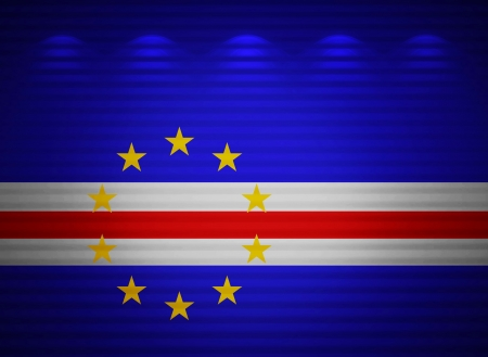 Cape Verde flag wall, abstract background photo
