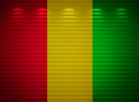 Republic of Guinea flag wall, abstract background photo