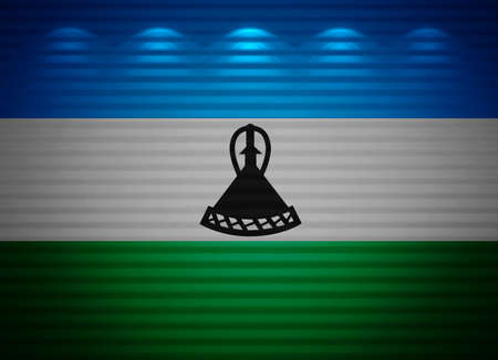 lesotho: Lesotho flag wall, abstract background