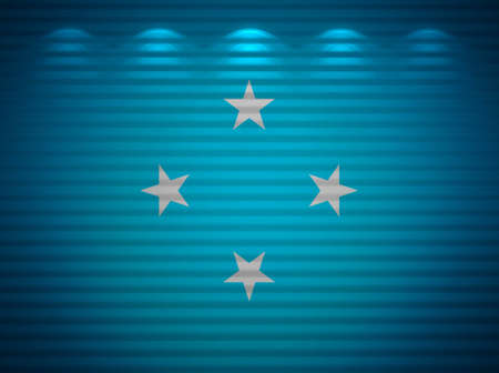 Micronesia flag wall, abstract background photo