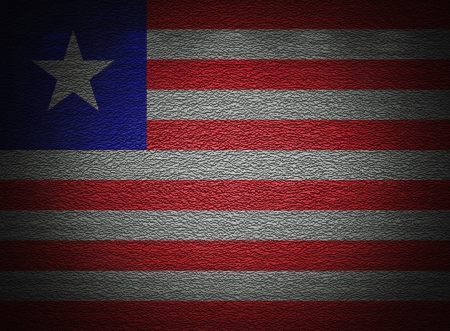 Liberia flag wall, abstract grunge background photo
