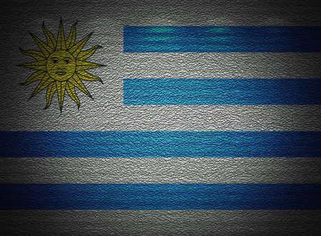 uruguay flag: Uruguay flag wall, abstract grunge background
