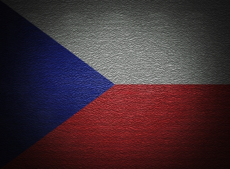 Czech flag wall, abstract grunge background photo