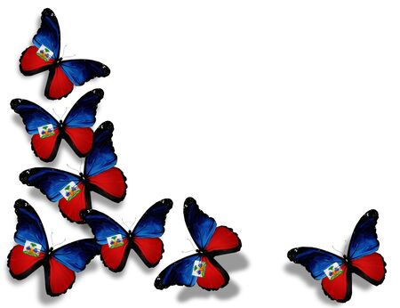 Hait� mariposas bandera Foto de archivo - 14675482