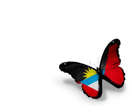 antigua flag: Antigua and Barbuda flag butterfly