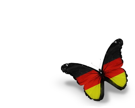 german flag: German flag butterfly, isolated on white background Stock Photo