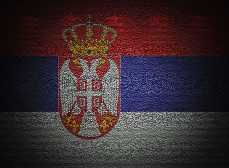 Serbian flag wall, abstract grunge background Stock Photo - 16438526