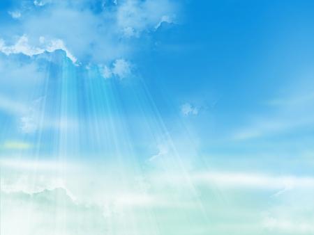 背景、雲と青い空