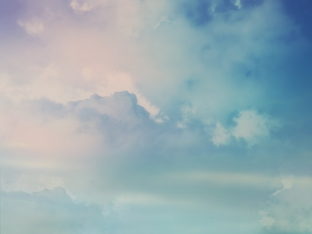 Color sky with clouds, background Standard-Bild