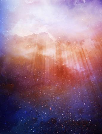 美しい空を背景