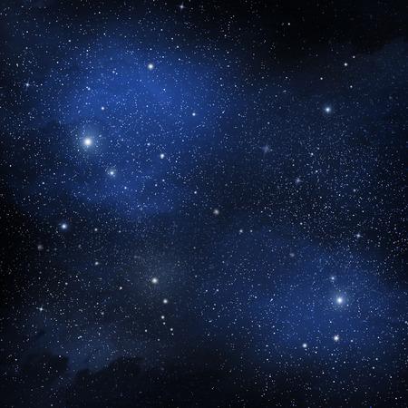 宇宙の星のクラスターで表示