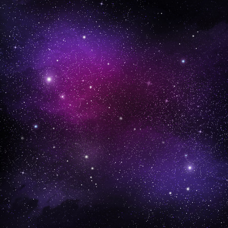 universe: View of space with cluster of stars