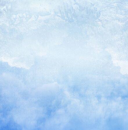 Kolor romantyczny niebo jako tło. Akwarela