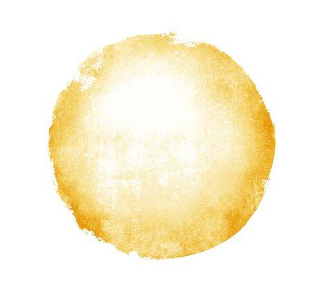 Akwarela koło na białym tle