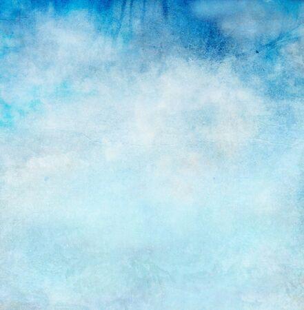 Farbe romantischer Himmel als Hintergrund. Aquarell Standard-Bild