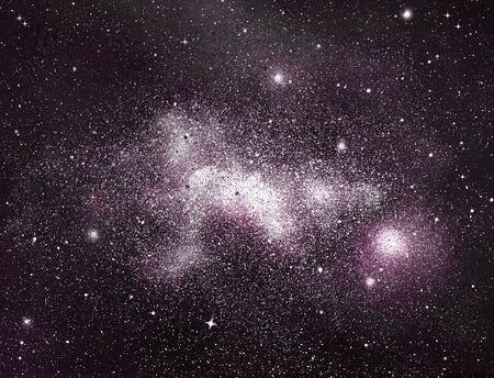 Ciel nocturne avec des étoiles en arrière-plan Banque d'images