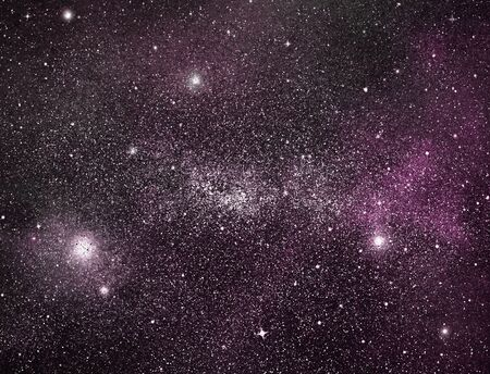 Nachthimmel mit Sternen als Hintergrund