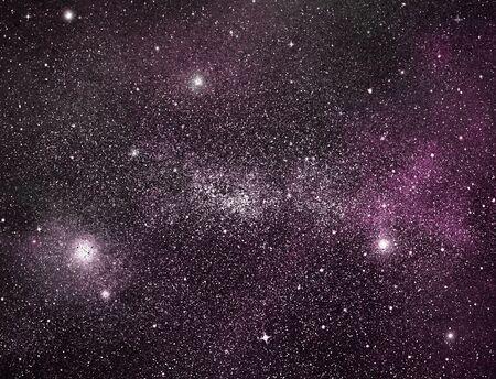 Nocne niebo z gwiazdami w tle