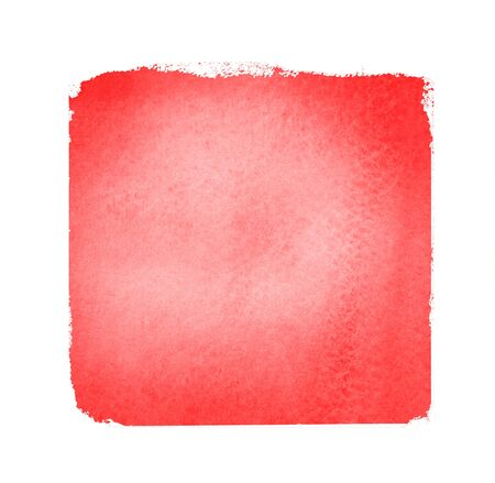 Watercolor sqaure on white background