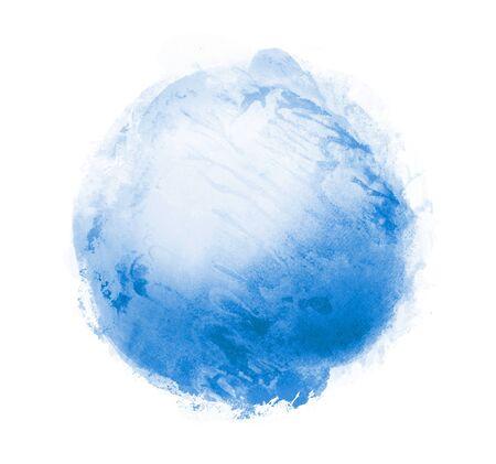 Cercle aquarelle sur fond blanc