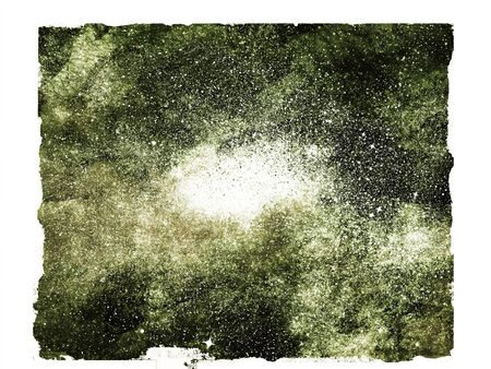 Night sky with stars as isolated background. Watercolor Stock Photo