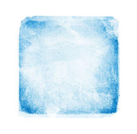 Cuadrado de acuarela sobre fondo blanco