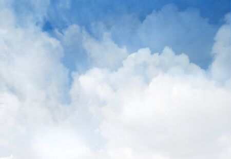 Blue sky with clouds as background