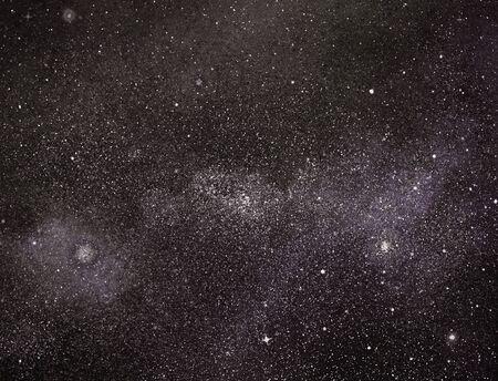 Cielo nocturno con estrellas como fondo. Foto de archivo