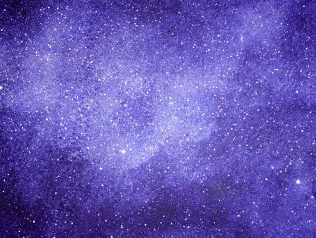 Night sky with stars as background. Watercolor