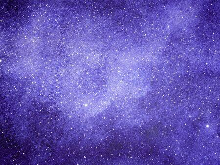 Nocne niebo z gwiazdami jako tło. Akwarela