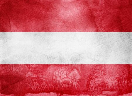 Watercolor flag on background. Austria
