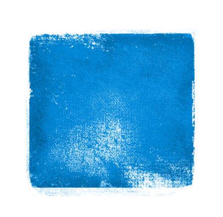 Watercolor sqaure on white background Reklamní fotografie