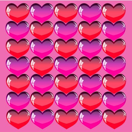 Beautiful Valentines Day background with coloring hearts photo