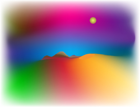 landscape illustration. Stock Vector - 6644866
