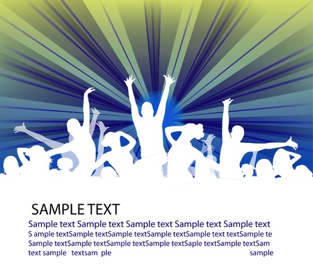 set of group peoples dance. flyer Stock Photo - 8270612